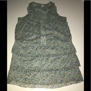 Mossimo Floral flirty dress Ruffle blue xxl
